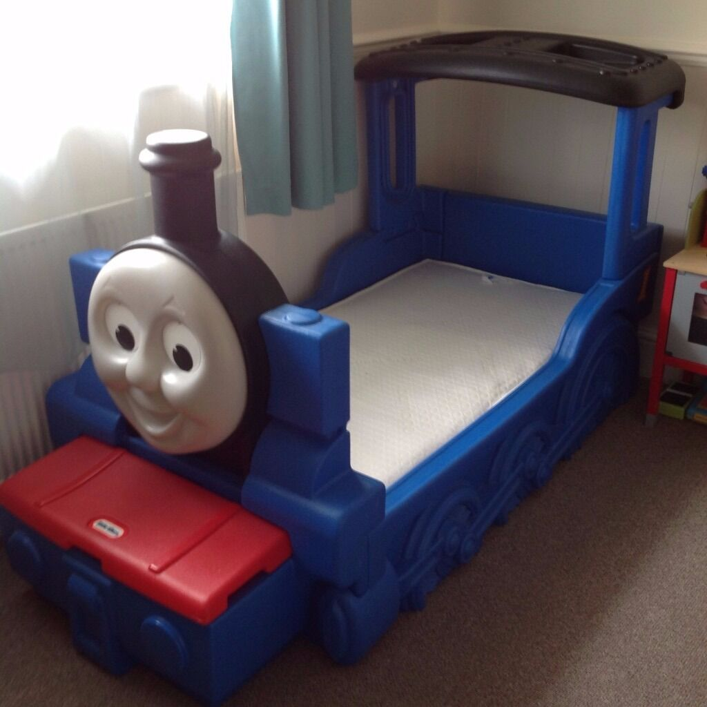 Little tikes thomas the train bed - Little Tikes Thomas The Tank Engine Toddler Bed In Vgc