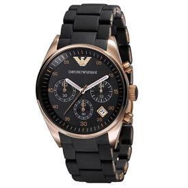 Emporio ARMANI AR5905 Men's Watch - Rose Gold Brand New