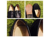 Baby toodler Boys Jack and Jill black Italian leather shoes size 5