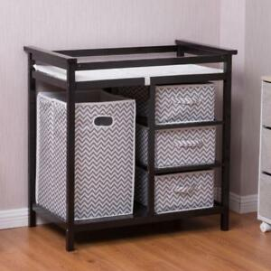 Infant Baby Changing Table w/3 Basket Hamper Diaper Storage Nursery - BRAND NEW - FREE SHIPPING