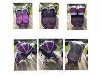 Baby Jogger City Mini Double Stroller (Purple)