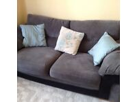 Sofas and footstool.