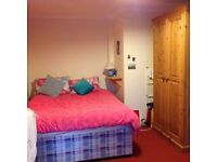 Spacious double room available in shared house