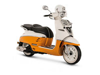 New Peugeot Django with £270 discount!! - Official UK Bike - Pre-Registered not used retro scooter
