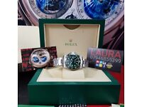 Complete Package silver strap green face green ceramic bezel Rolex GMT automatic sweeping