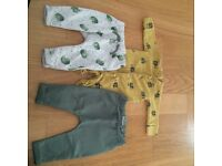 Next baby boy sleepsuits and trousers
