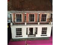 Antique dolls house 2ft by 2ft