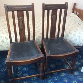 2 x 1930 dining room chairs