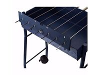 Outsunny Charcoal Trolley BBQ Garden Outdoor Barbecue