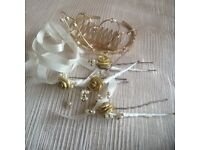 Bridal tiara and clips