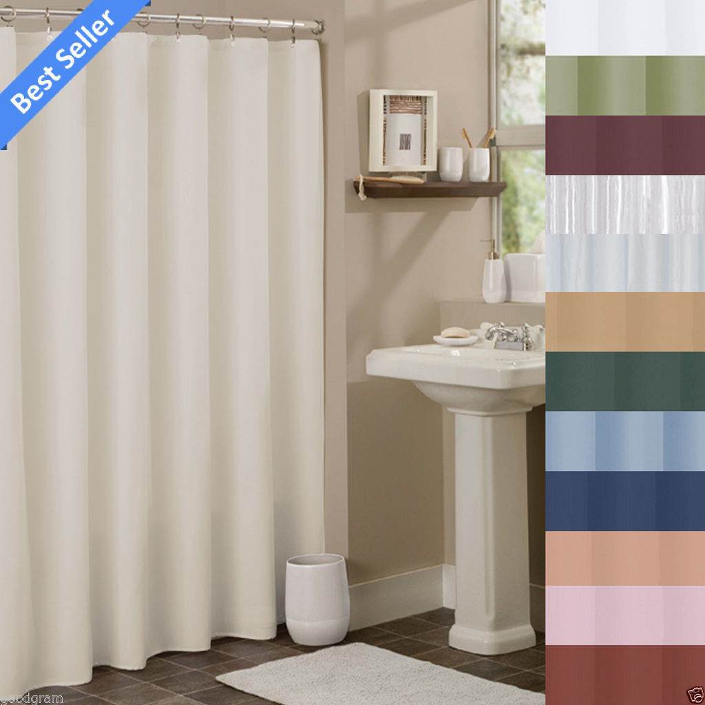 Hotel Collection Fabric Shower Curtain Liners By GoodGram -