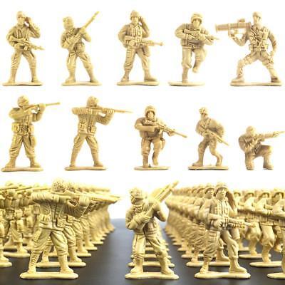 100x Militär Kunststoff Spielzeug 5 cm Soldaten Armee Männer Figuren ()
