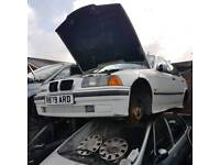 BMW E36 white maroon blue 3 in stock breaking coup 318 I 323 I M Sport 1996 1998