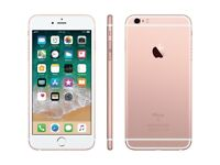 Iphone 6s plus, 16gb, on Vodafone, lebara, sainsbury, and talkhome network, rose gold, £235