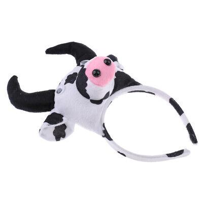 Weihnachten Mädchen Jungen Stirnband Bowtie Schwanz Kit Kuh Kostüm - Kuh Kostüm Stirnband