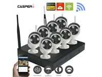 8CH Wireless Wifi 1080P DVR Outdoor HD IP Cameras CCTV Security System with HDD