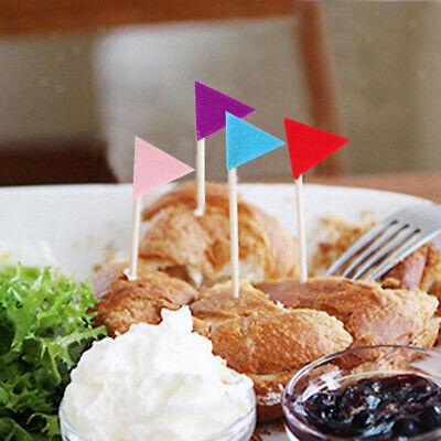 Packung mit 50 Stück Dreieck-Muster Felt Picks Zahnstocher Lebensmittel