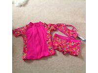 3 Piece Swimwear Set 6-7 yrs ( brand new with tags)