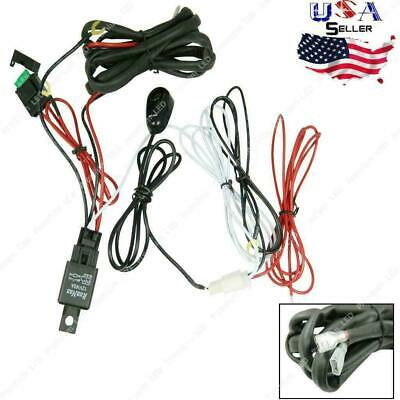 12V 40A LED Work Light Bar Wiring Harness ON/ OFF Switch Relay Cable Kit 1 to 2
