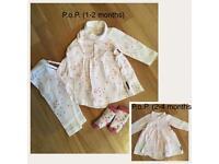 Designer (Polarn O Pyret) Baby Girl 0-6 Bundle