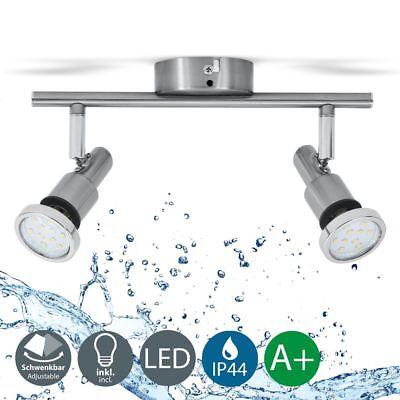LED Badlampe IP44 Deckenstrahler Badezimmer GU10 2er Spot Decke Leuchte Lampe 5W ()