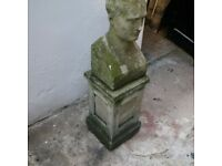 nicely weathered old garden ornament or feature or sculpture can deliver