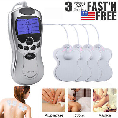 Tens Unit Machine Electric Pulse Massager Muscle Stimulator Therapy Pain Relief
