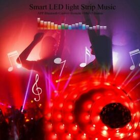 LED Strip Lights Kit 50ft 25M, 5050 RGB Music Colour Changing Lights, APP Control