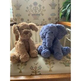 Original fuddlewuddle Jellycat dog and elephant