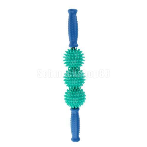 Massagestäbchen Triggerpunkt Massageball Roller mit 3 Massagebälle mit