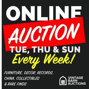 ONLINE AUCTION! Man Cave Essentials! Video Gaming Consoles, Vintage Accents, Collector Cards, Records and MORE!!
