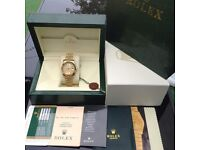 New boxed mens gold bracelet gold rolex motif face gold casing Rolex datejust automatic movement