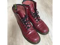Dr Marten cherry red boots