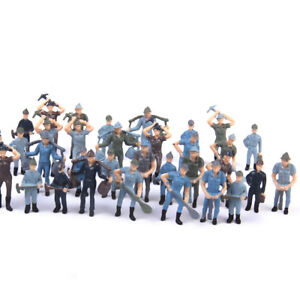 50pcs O Scale Painted Worker People Figures Model Train Railway Layout 1:42