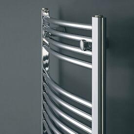 Electric Curved Towel Rail 500 x 1000mm 200w element Model: ESTR510C........Brand New