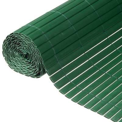 Nature Double Sided Garden Screen PVC 1x3m Green Patio Sunshade Privacy Fence