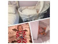 Reborn Doll with free Moses basket and rocking stand