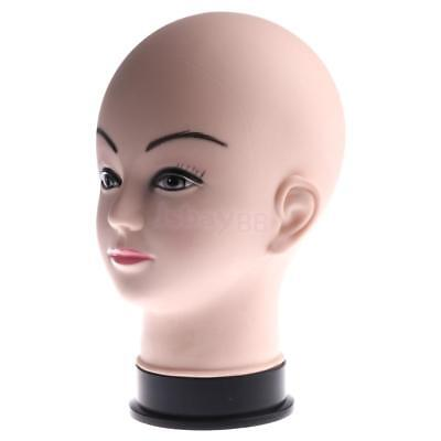 Female Mannequin Head Model Wig Hat Display Stand Cosmetology Manikin