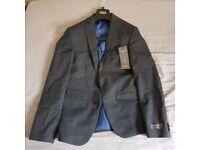 Mark Spenser M&S Mens 2 Piece Suit Pants Wool Lycra Slim Fit Small Size 36