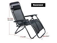 black reclining relaxer chairs x 2 ***BRAND NEW***