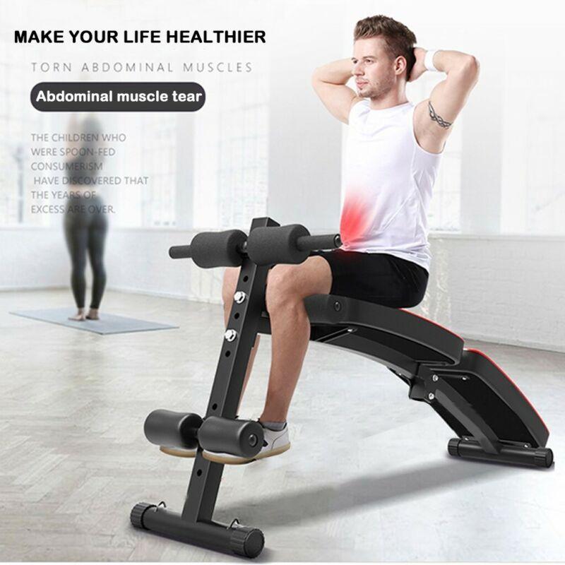 Adjustable Sit up Bench AB Flat Incline Decline Training Cru