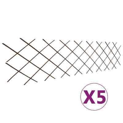 vidaXL 5x Valla Enrejada de Sauce 180x60cm Paneles Cercado Barrera Decoración