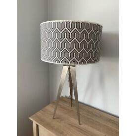 Tripod table lamp, designer