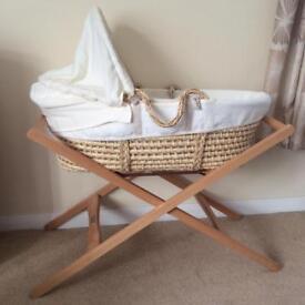 Mamas & Papas Beautiful Moses Basket - Great Condition