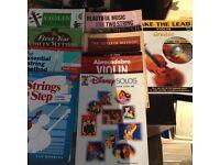 11 Violin books.