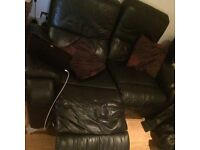 2 seater black electric recliner