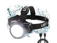Head Torch USB Rechargeable