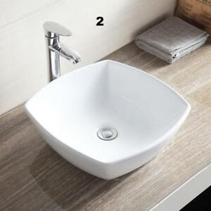 Porcelain Ceramic Vessel Bathroom Sink Basin with Pop Up Drain Combo White - BRAND NEW - FREE SHIPPING