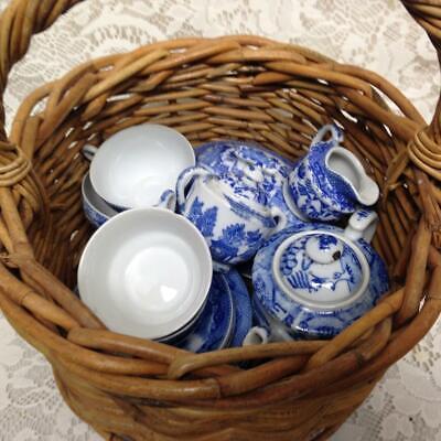 Vintage, Hecho en Japón Azul Sauce 20pc XL de Niño Juego Té...