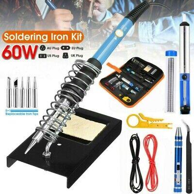 Lötkolben Set Elektronik 60W Digital-Lötstation Temperatur 200-450°C Regelbar DE